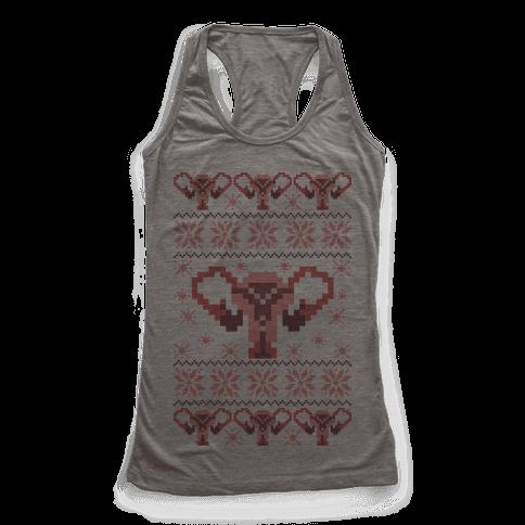 Uterus Sweater Pattern Racerback Tank Top
