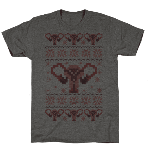 Uterus Sweater Pattern Mens T-Shirt