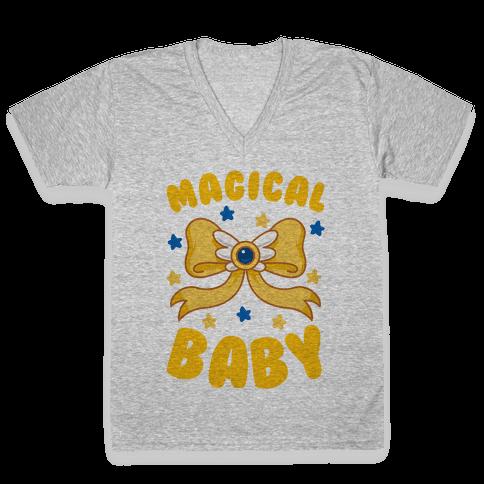 Magical Baby (Gold) V-Neck Tee Shirt