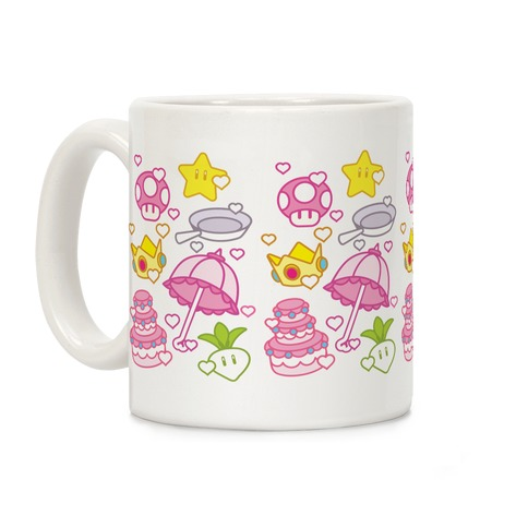 Peach Inventory Items Pattern Coffee Mug