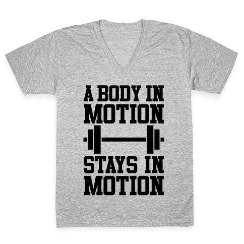 A Body In Motion V-Neck Tee Shirt
