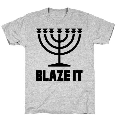 Blaze It Menorah T-Shirt