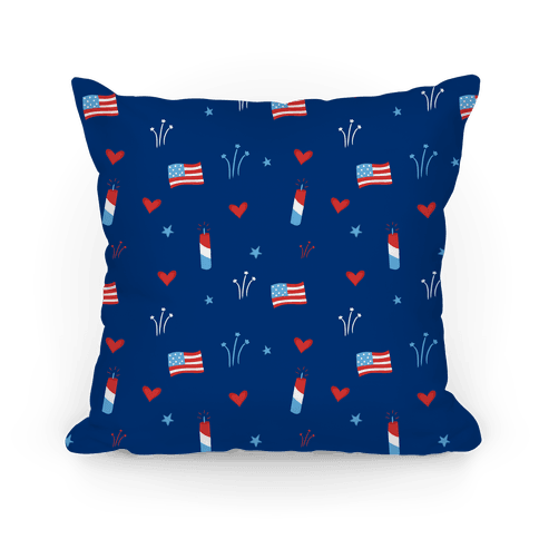 American Pride Pattern (Blue) Pillow