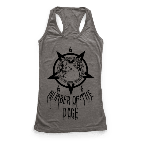 Number of The Doge Racerback Tank Top