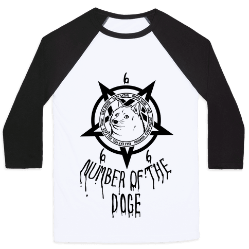 Number of The Doge Baseball Tee