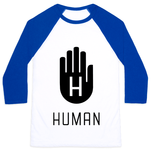 The HUMAN Hand Black Baseball Tee