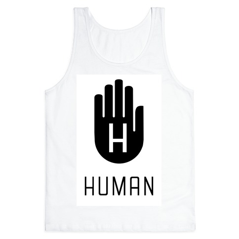 The HUMAN Hand Black Tank Top