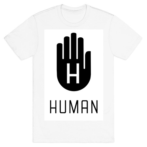 The HUMAN Hand Black Mens T-Shirt