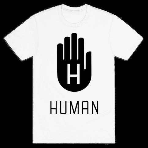 The HUMAN Hand Black Mens T-Shirt