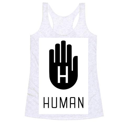 The HUMAN Hand Black Racerback Tank Top