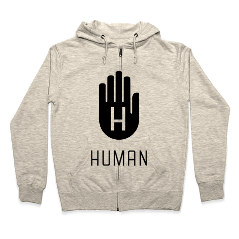 The HUMAN Hand Black Zip Hoodie