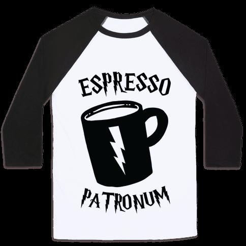 Espresso Patronum Baseball Tee