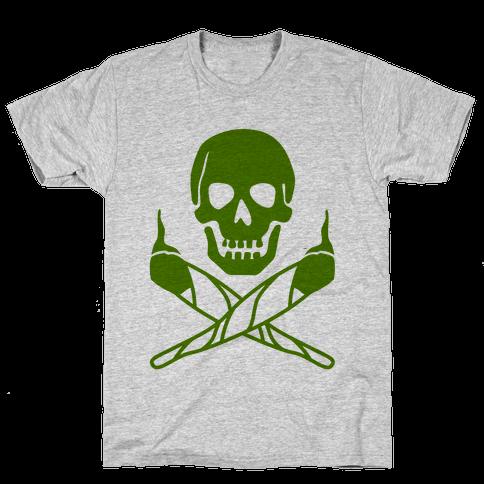 Stoned Jolly Roger Mens T-Shirt