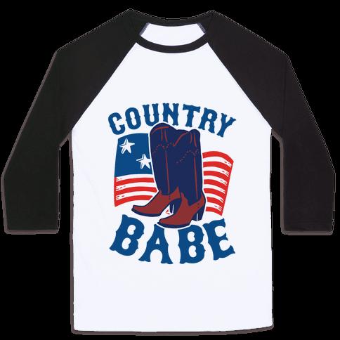 Country Babe Baseball Tee