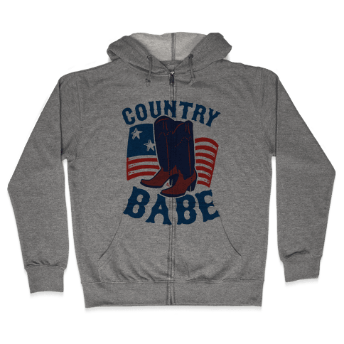 Country Babe Zip Hoodie