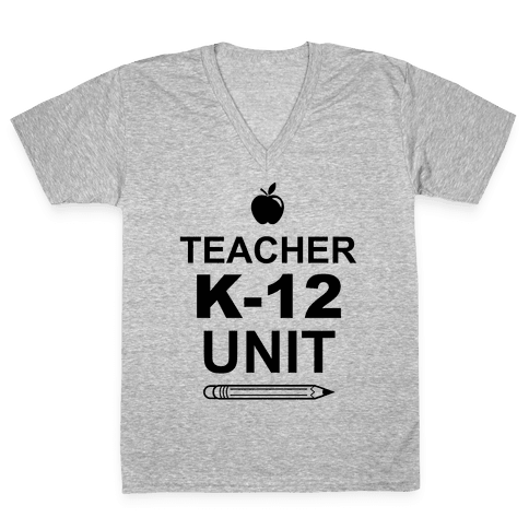 Teacher K-12 Unit V-Neck Tee Shirt