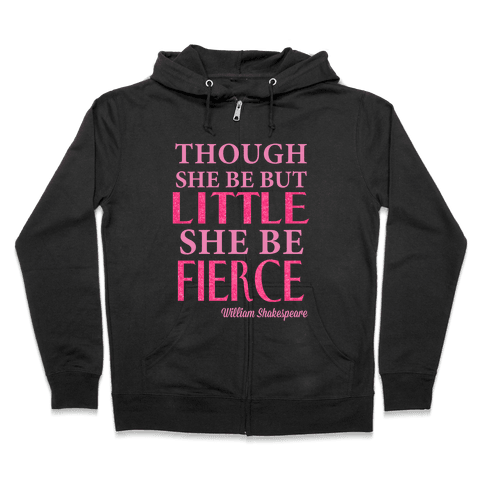 Little But Fierce (Gym Diva) Zip Hoodie