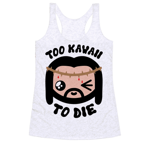 Kawaii Jesus-Kun Racerback Tank Top