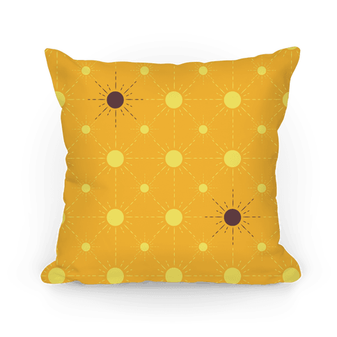Sunshine Diamond Orange Pattern Pillow