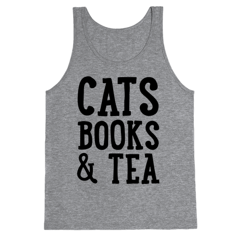 Cats, Books & Tea Tank Top