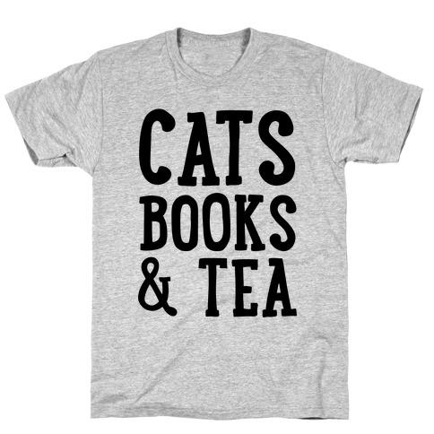 Cats, Books & Tea T-Shirt
