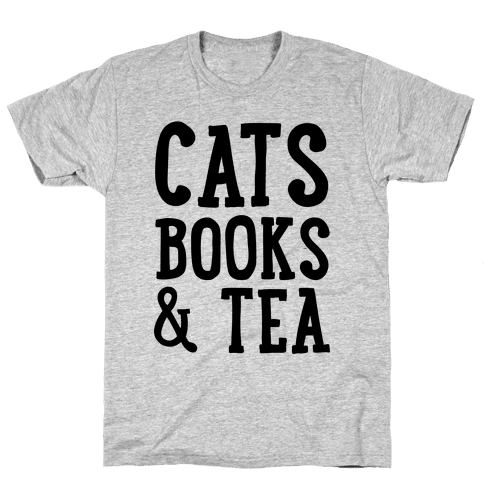 Cats, Books & Tea Mens T-Shirt