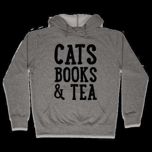 Cats, Books & Tea Hooded Sweatshirt