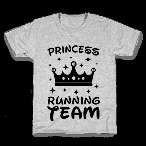 Princess Running Team Neon Kids T-Shirt