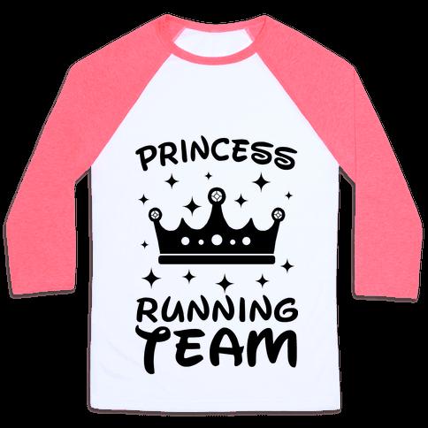 Princess Running Team Neon Baseball Tee