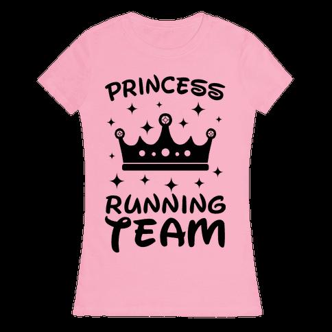 Princess Running Team Neon Womens T-Shirt