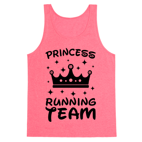 Princess Running Team Neon Tank Top