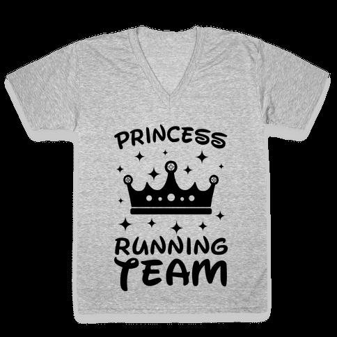 Princess Running Team Neon V-Neck Tee Shirt