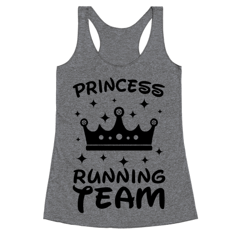 Princess Running Team Neon Racerback Tank Top