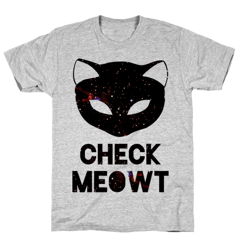 Check Meowt Galaxy Mens T-Shirt