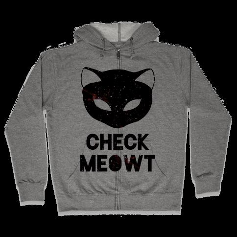 Check Meowt Galaxy Zip Hoodie