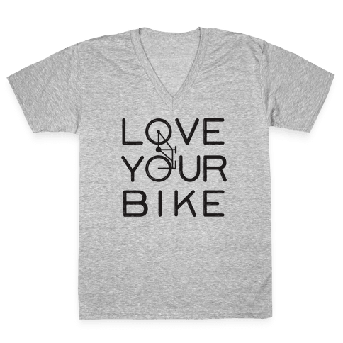 Love Your Bike V-Neck Tee Shirt