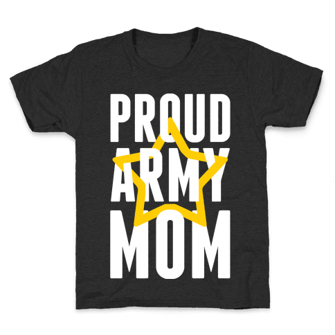 Proud Army Mom Kids T-Shirt