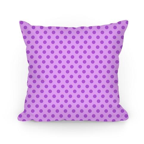 Purple Polka Dot Pattern Pillow