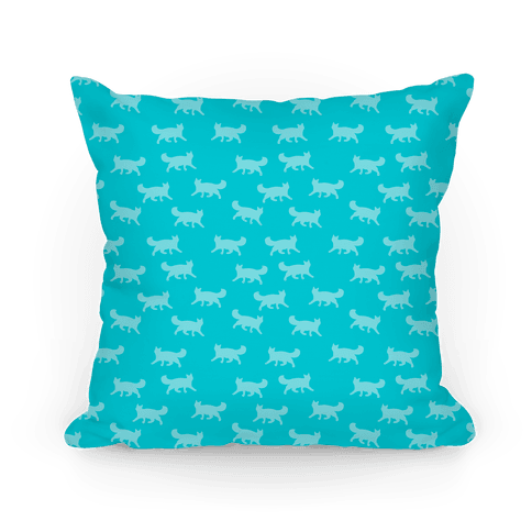 Teal Cat Pattern