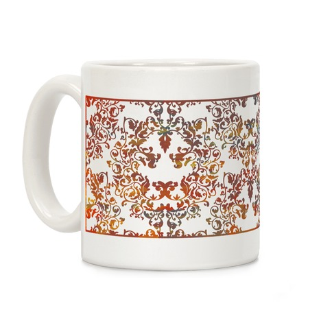 Floral Lion Coffee Mug