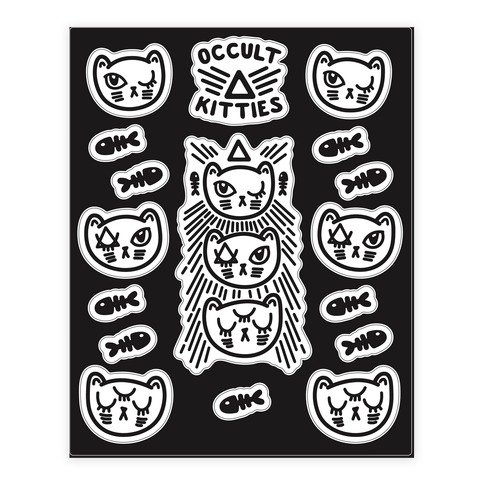 Occult Kitties Sticker/Decal Sheet
