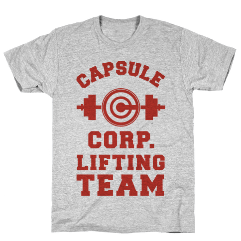 Capsule Corp. Lifting Team Mens T-Shirt