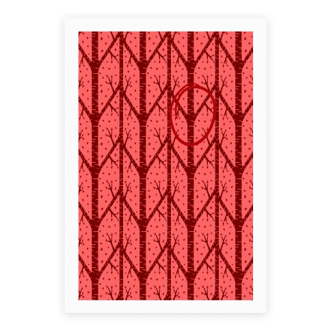 Red Tree Pattern Poster