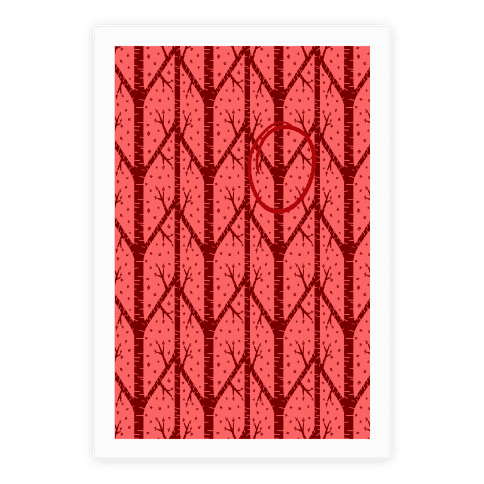 Red Tree Pattern