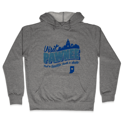 Visit Pawnee Hooded Sweatshirt