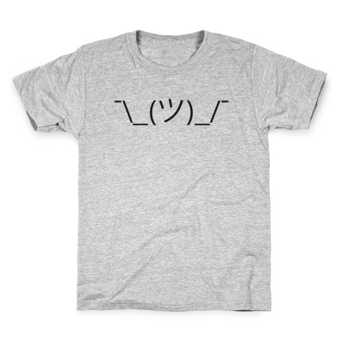 Emoticon Shrugs Kids T-Shirt