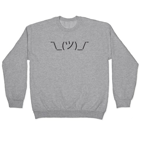 Emoticon Shrugs Pullover
