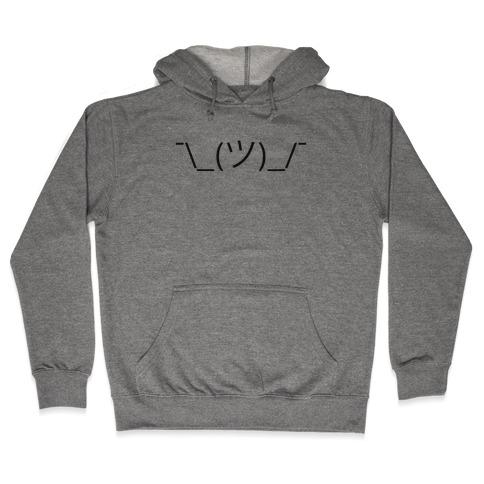 Emoticon Shrugs Hooded Sweatshirt