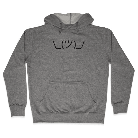 Emoticon Shrugs Hooded Sweatshirt