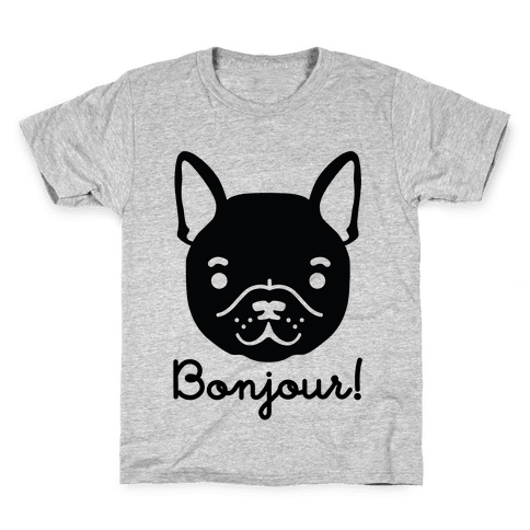 Bonjour French Bulldog Kids T-Shirt
